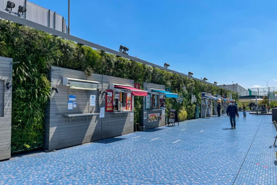 食と緑の空中庭園 フードカート