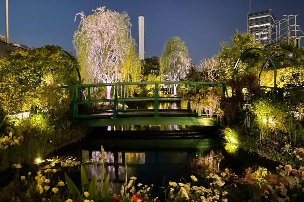 食と緑の空中庭園 睡蓮の庭 夜2