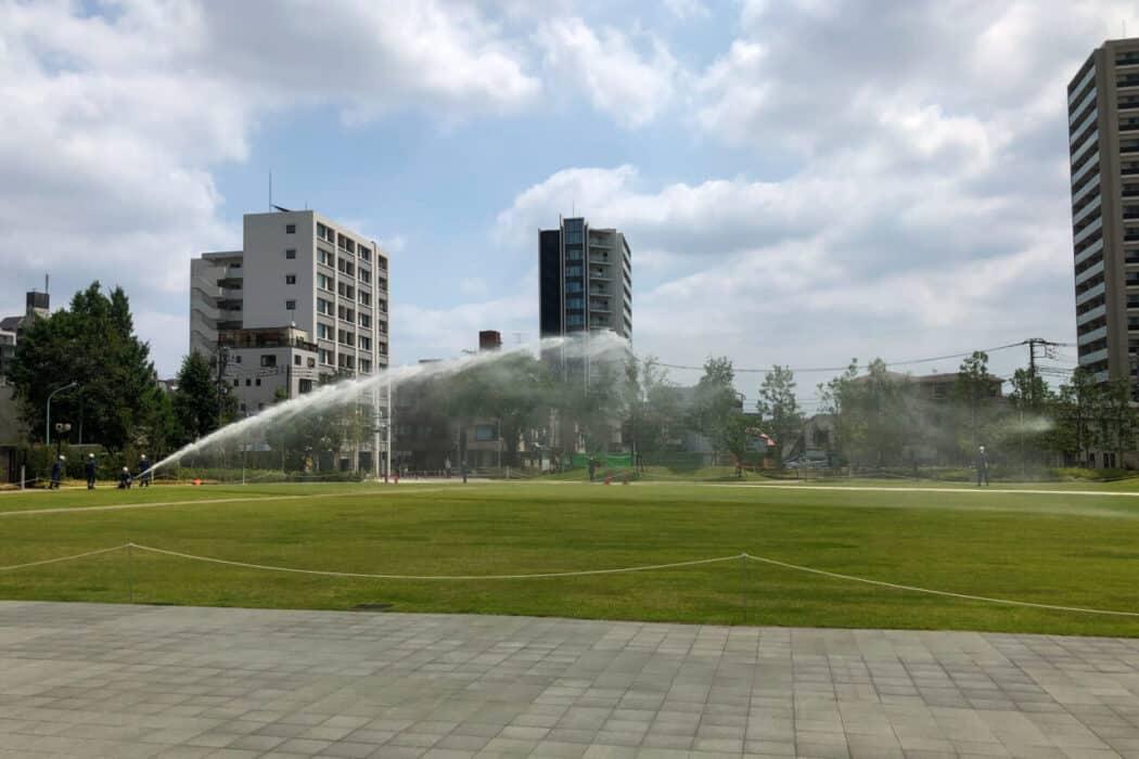 イケ・サンパーク 防災設備 放水