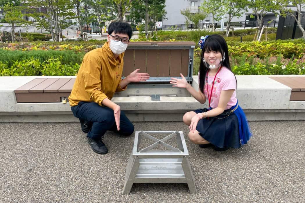 イケ・サンパーク 防災設備 かまどベンチ3